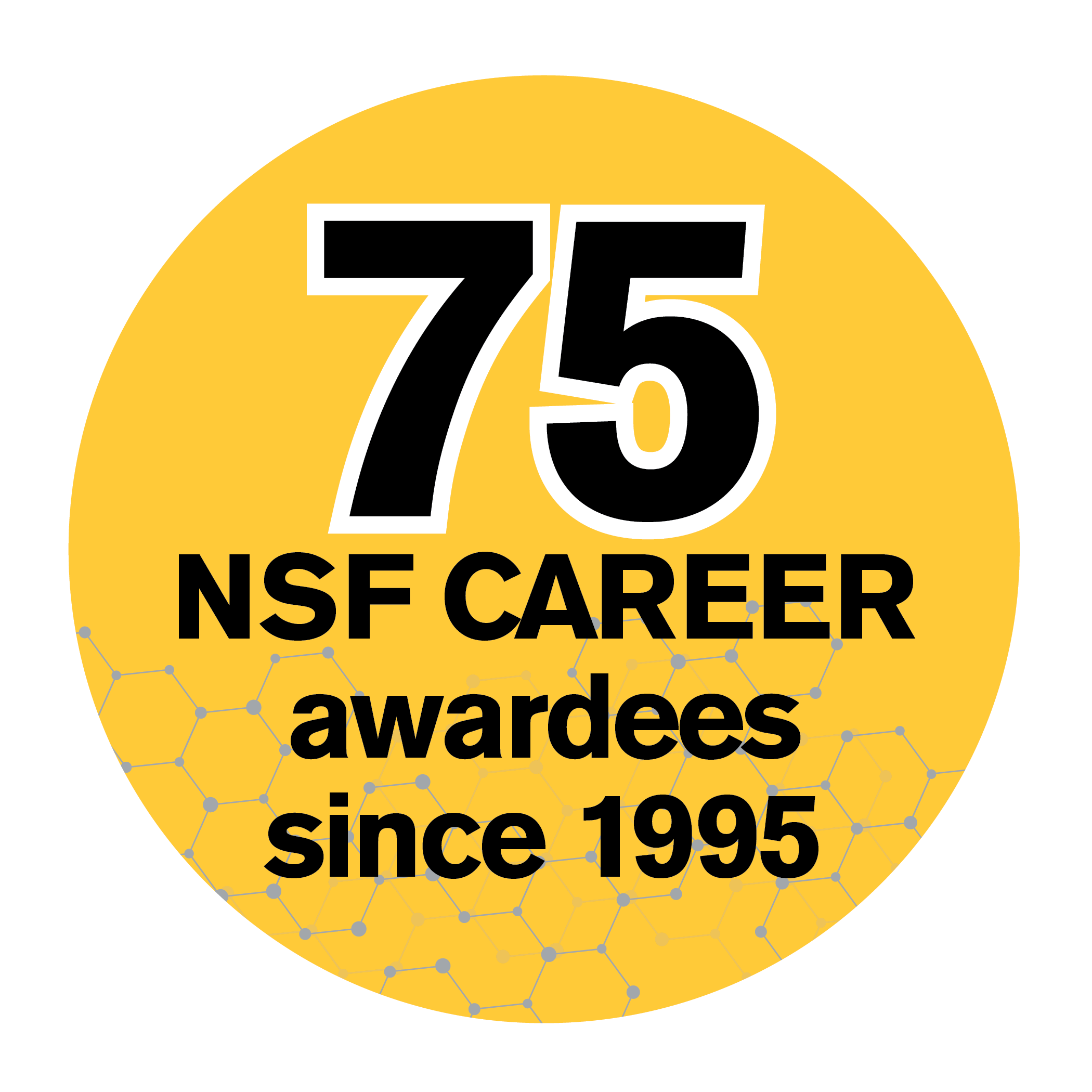 75 NSF CAREER awards since 1995