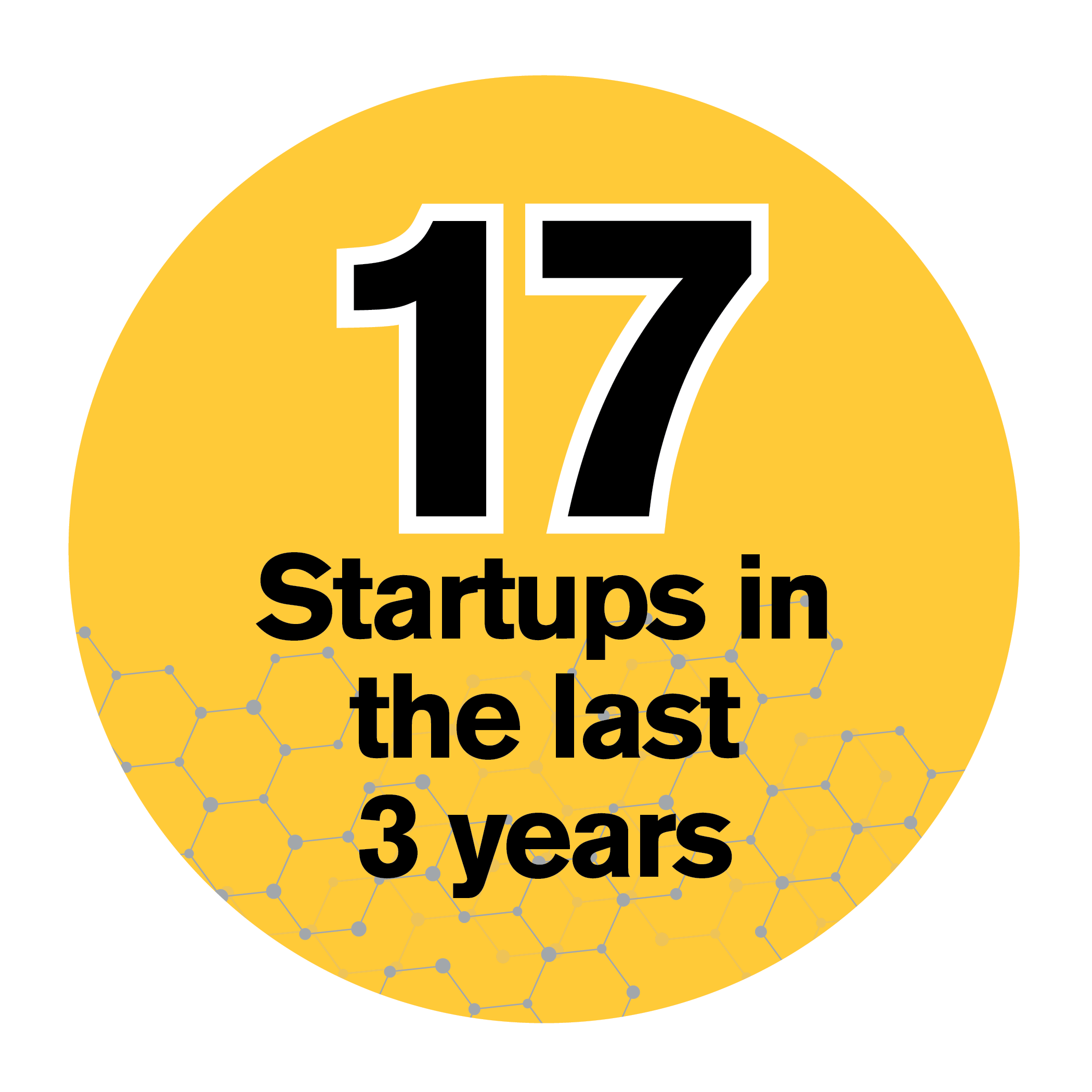 17 Startups in the last 3 years