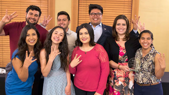 Student orgs, such as the Society of Hispanic Professional Engineers (SHPE de ASU), were recognized for their achievements at the Fulton Schools' Student Organization Awards and Recognition (SOAR) Ceremony.