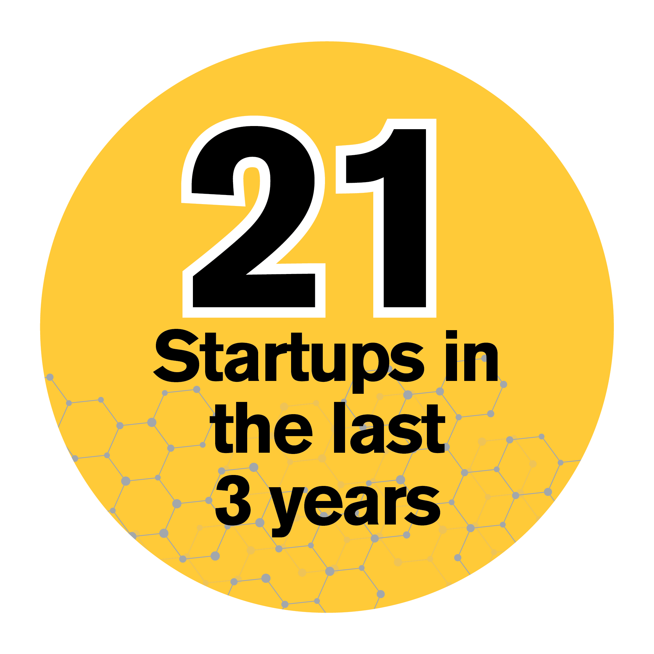 21 Startups in the last 3 years