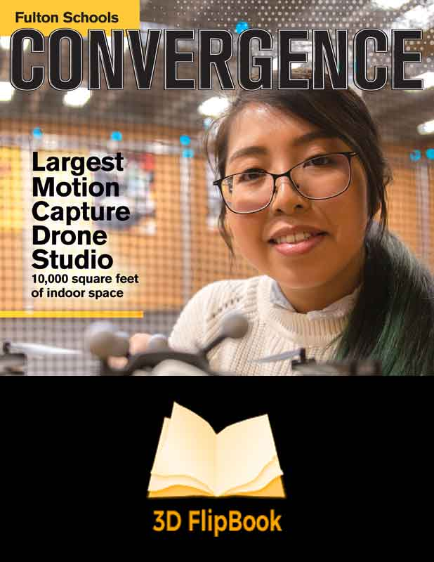 Convergence -- the magazine of the Ira A. Fulton Schools of Engineering, spring 2019 cover -- view the Flipbook