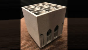 3D-printed heat sink structure designed by ASU students