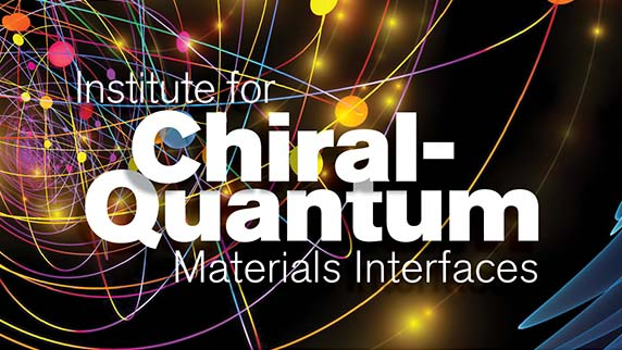 Stylized wordmark for the Institute for Chiral-Quantum Materials Interfaces