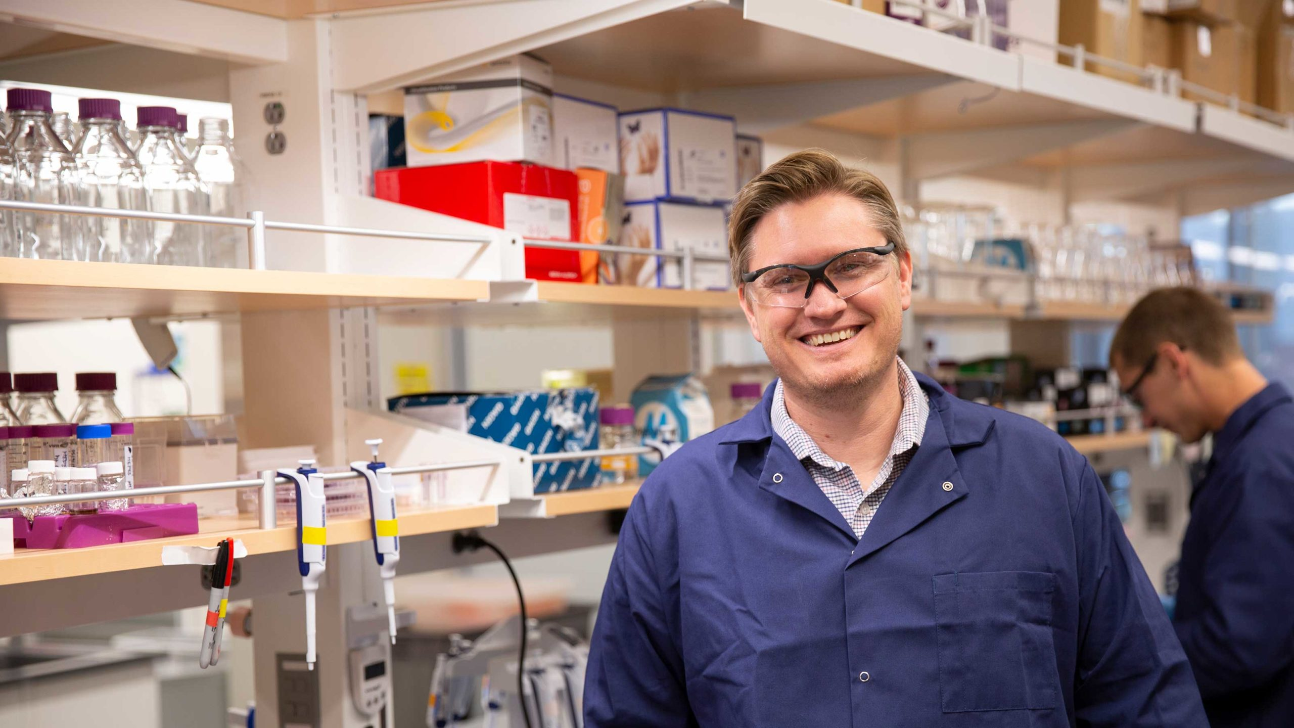 Portrait of Brent Nannenga in his lab