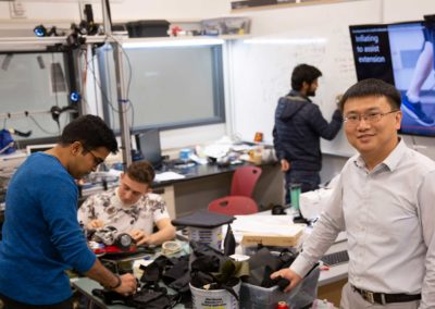 Portrait of Wenlong Zhang in his lab
