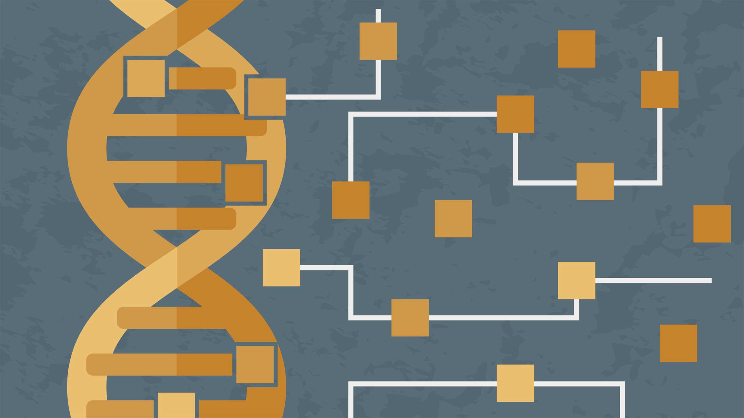 stylized graphic of a DNA strand