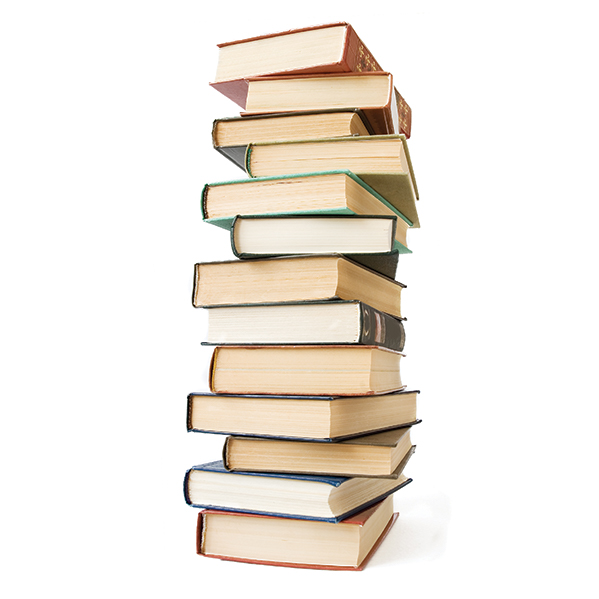 stock image of a stack of books