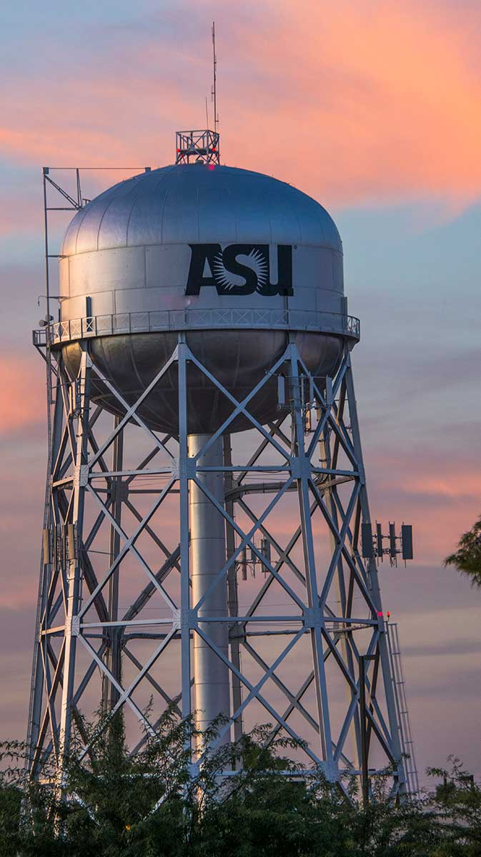 water tower at the ASU Polytechnic campus