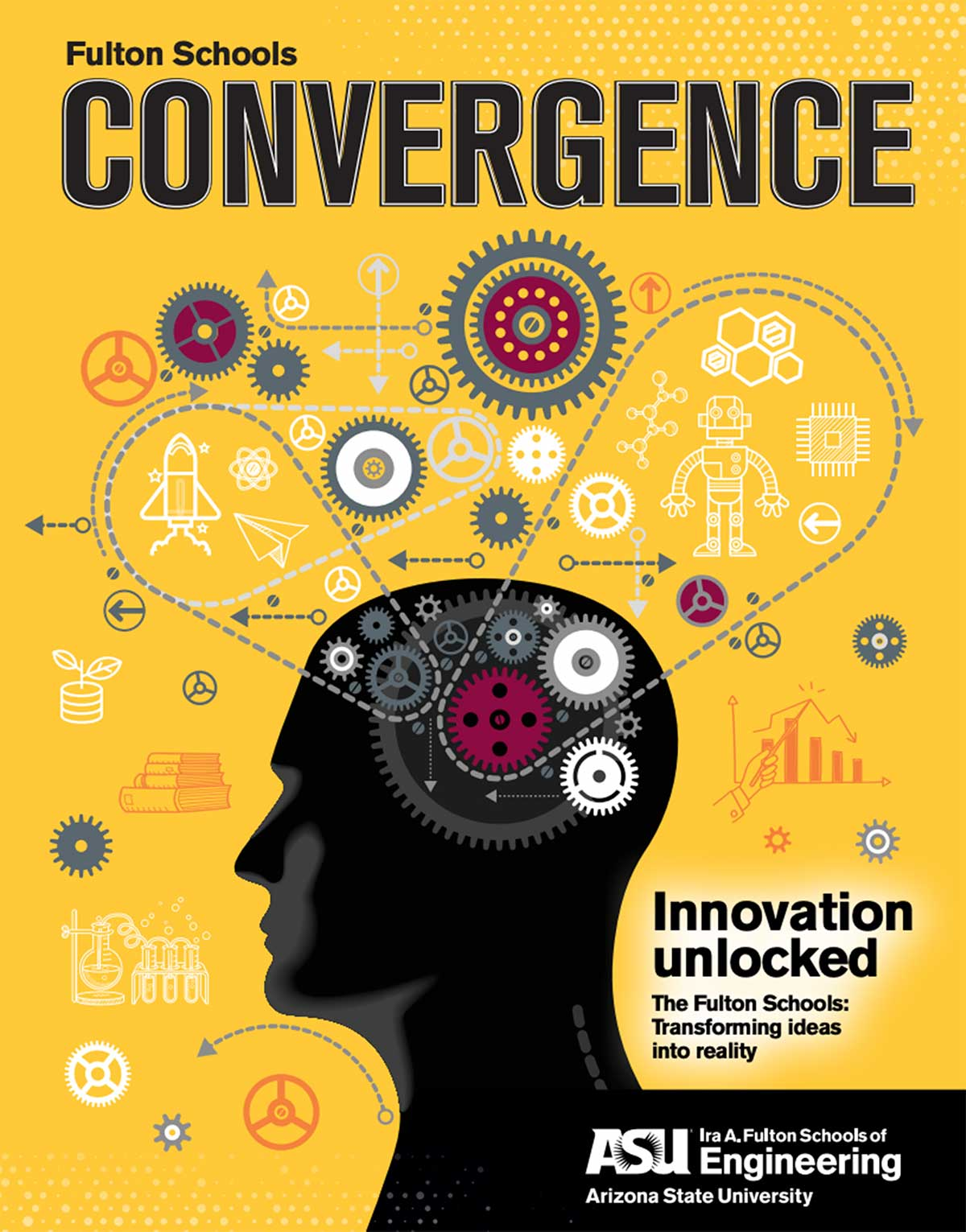 ASU Engineering's Convergence 2020 magazine cover