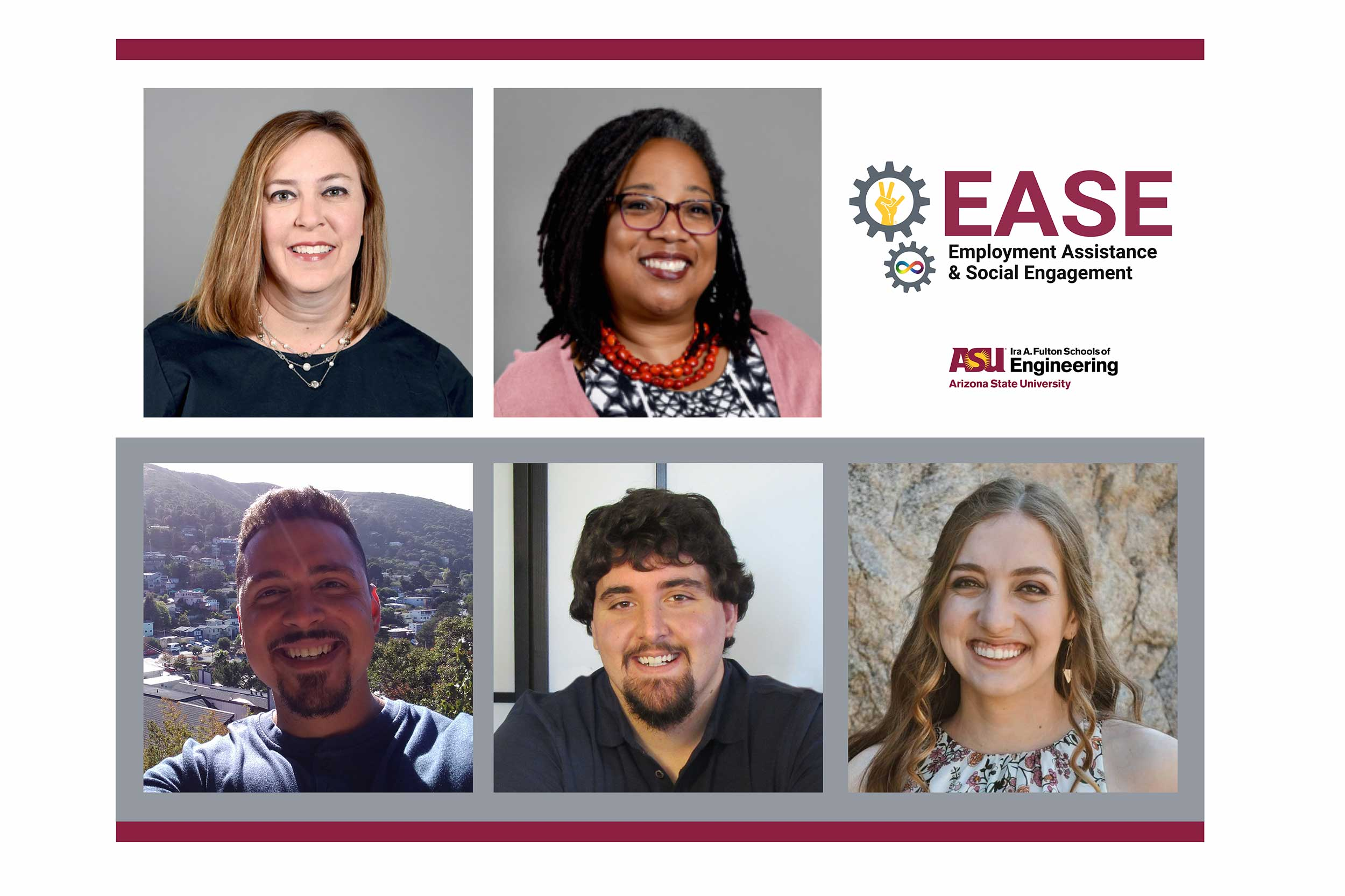 Deana Delp, Maria Dixon and three other support people for the EASE program at ASU