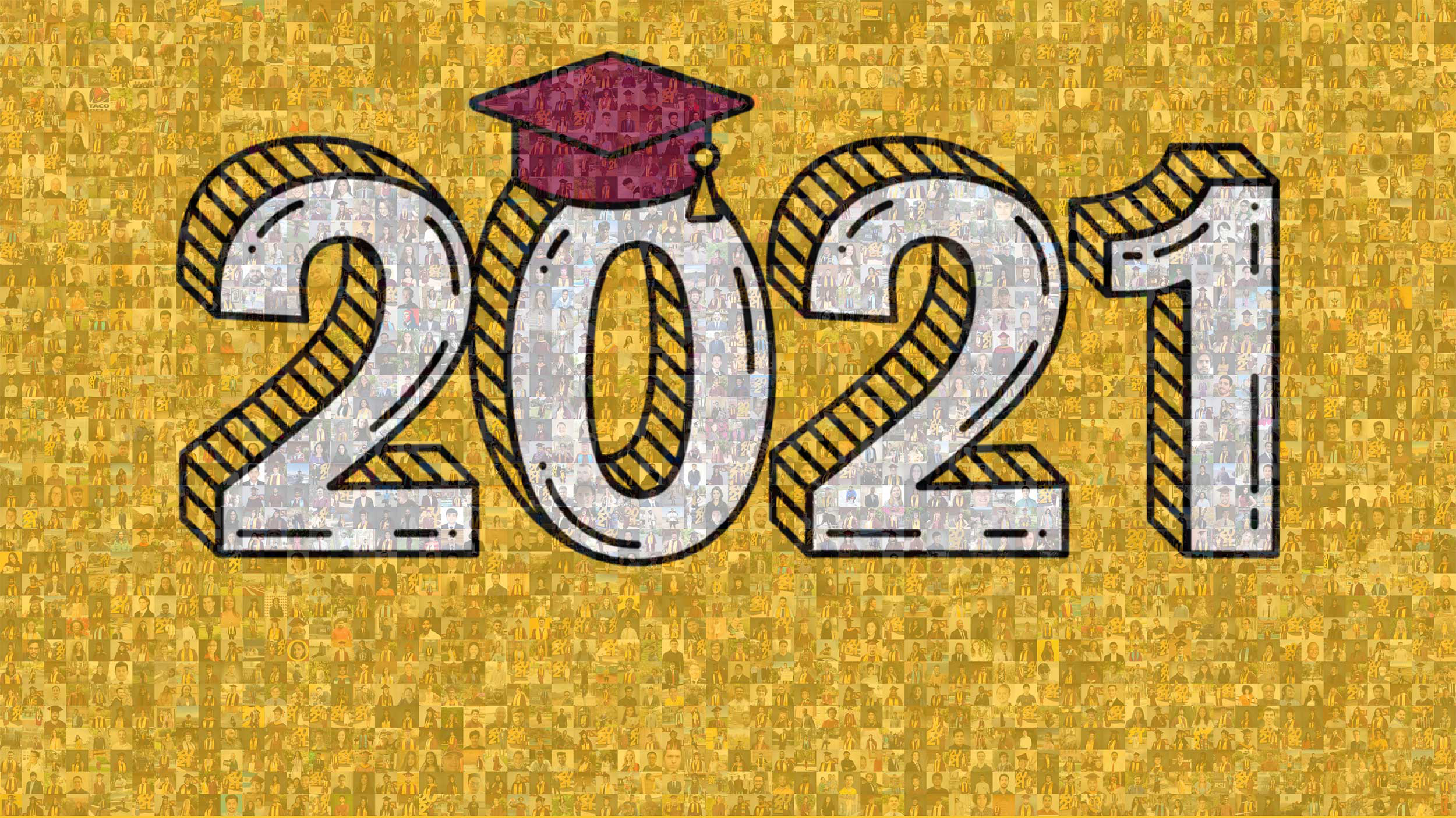 mosaic of all the 2021 Fulton Schools graduates